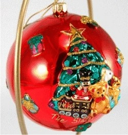 Christmas Ball Gifts O' Plenty Blown Glass Personalized Christmas Ornament