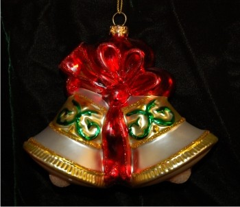 Anniversary Bells Christmas Ornament Personalized by Russell Rhodes