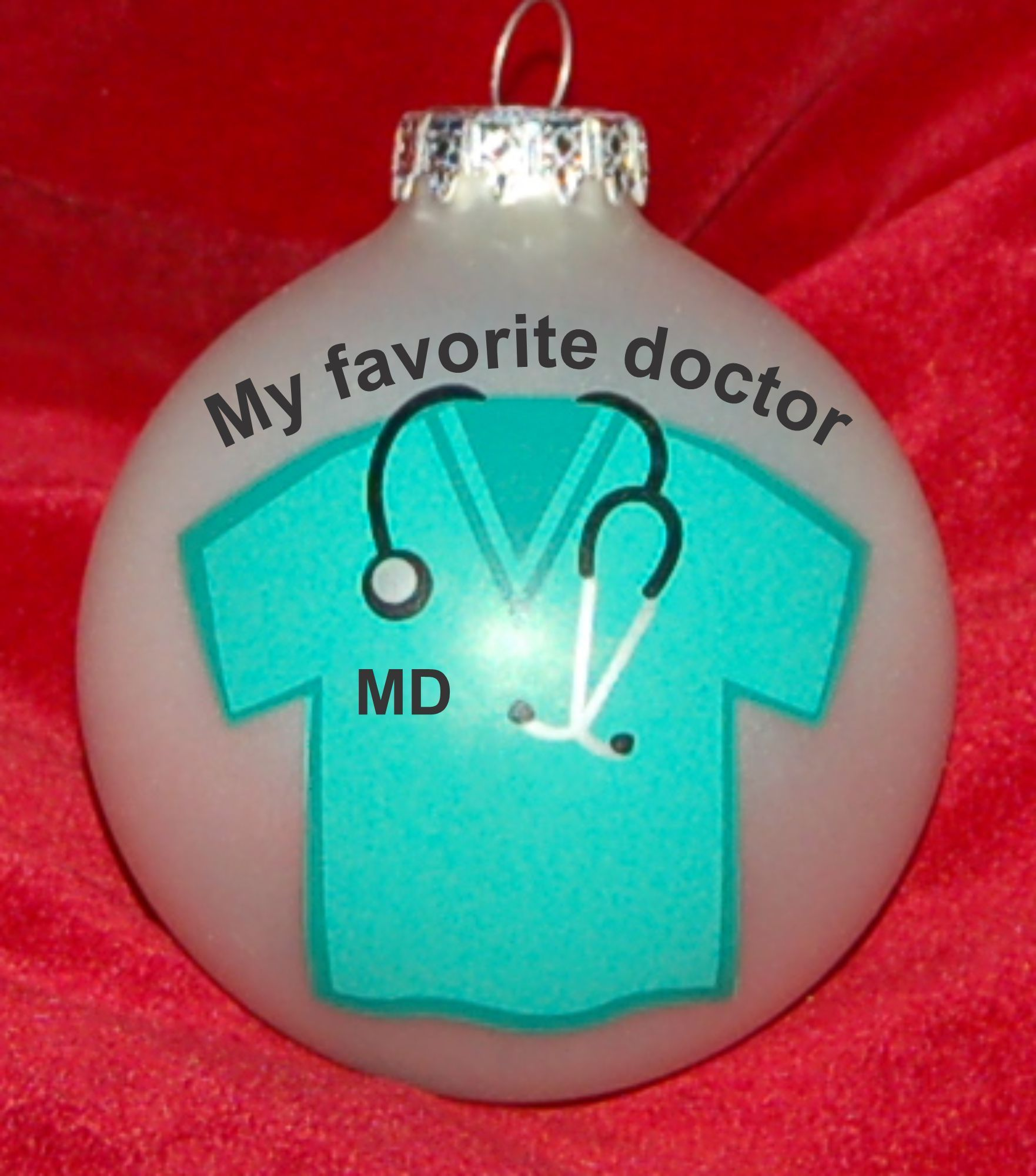 Thanks to Doctor Gift Christmas Ornament Personalized by Russell Rhodes