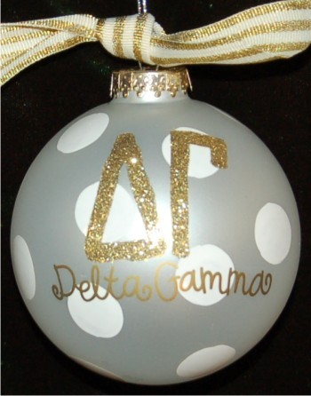Hand Painted Baseball Glass Christmas Ornament