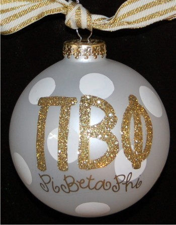 Hand Painted Soccer Glass Christmas Ornament