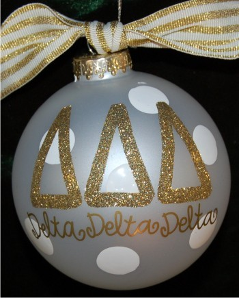 Hand Painted Wedding Cake Glass Christmas Ornament