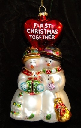 Cobane's Our First Christmas Together Personalized Christmas Ornament