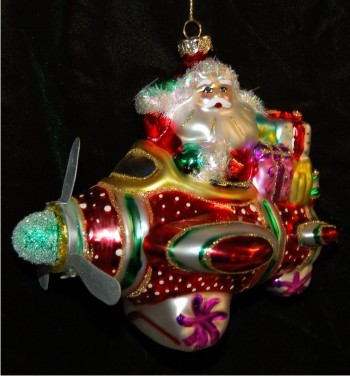 Airplane Fun Christmas Ornament