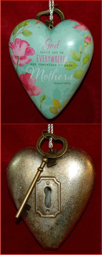 Mother's Art Heart Christmas Ornament Personalized by Russell Rhodes
