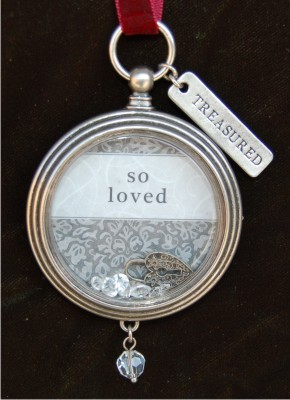 You Are So Loved Keepsake Locket Frame Christmas Ornament
