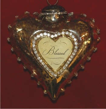 You are Blessed Art Heart Personalized Christmas Ornament Personalized by Russell Rhodes