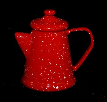 Camp Coffee Pot Glass Christmas Ornament