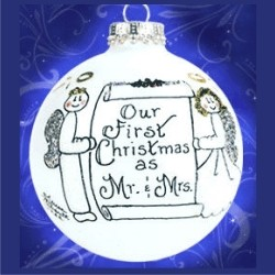 Our First Christmas as Mr. and Mrs. Glass Personalized Christmas Ornament