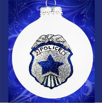 End of Watch Police Memorial Personalized Christmas Ornament