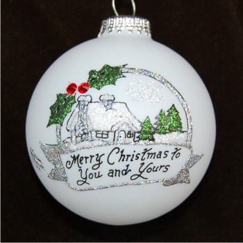 Christmas Cottage Personalized Christmas Ornament