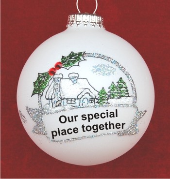 Celebrating Our Special Place Together Christmas Ornament Personalized by Russell Rhodes