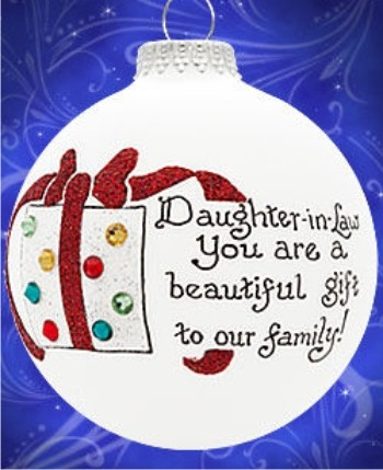 I Love My Daugher-in-Law Personalized Christmas Ornament