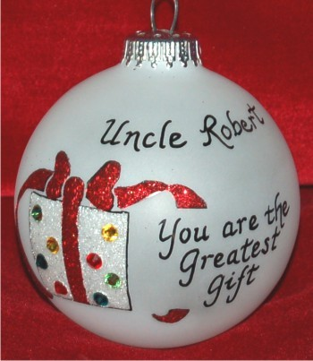 Very Special Godfather Christmas Ornament Personalized by Russell Rhodes