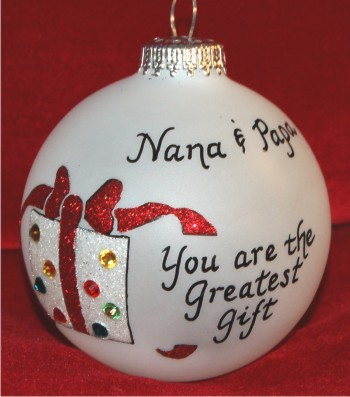 Very Special Grandparents Ornament Personalized Christmas Gift