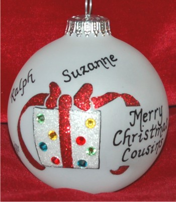 Very Special Cousins (up to four) Ornament Personalized Christmas Gift