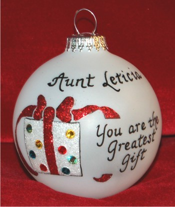 Very Special Great Aunt Christmas Ornament Personalized by Russell Rhodes