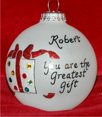 Very Special Grandson Christmas Ornament Personalized by Russell Rhodes