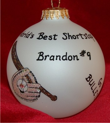 Our Baseball Star Christmas Ornament Personalized by Russell Rhodes