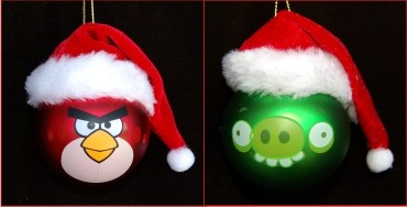 Angry Bird & Teasing Pig Christmas Ornament Personalized by Russell Rhodes