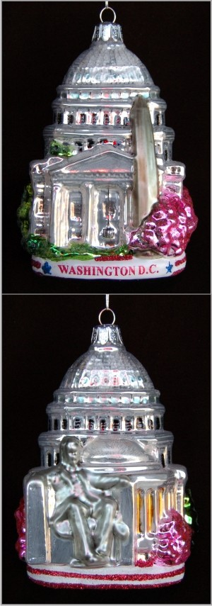 Washington D.C. Personalized Glass Ornament