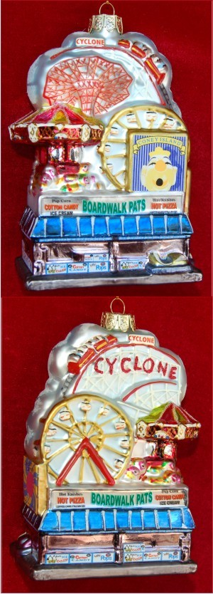 Coney Island Glass Personalized Christmas Ornament