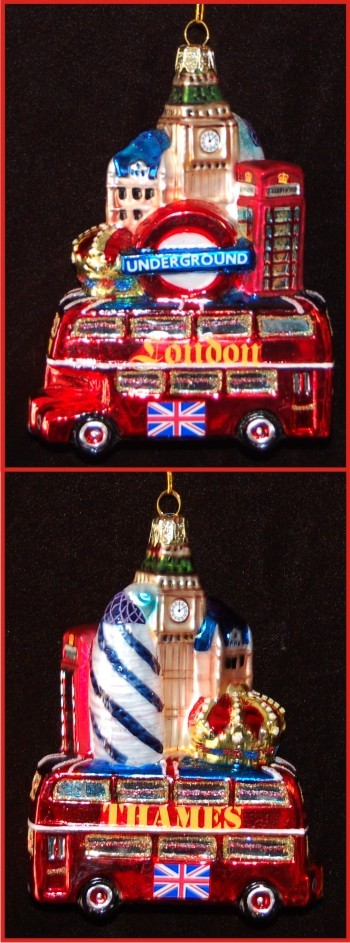 Seeing the City Sites of London Christmas Ornament Personalized by Russell Rhodes
