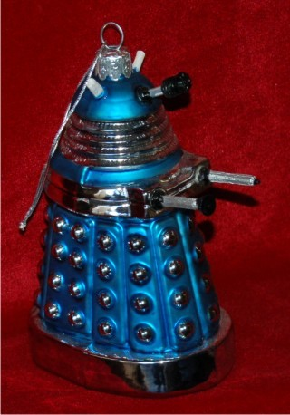 Dr. Who Blue Dalek Christmas Ornament Personalized by Russell Rhodes
