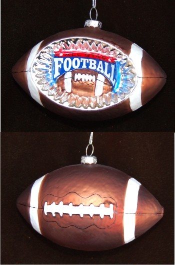 Football Reflector Christmas Ornament