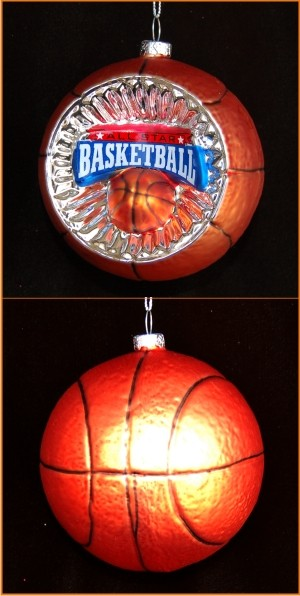 Basketball Reflector Christmas Ornament