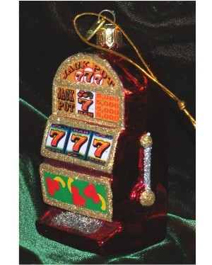 High Payout Slot Machine Glass Personalized Christmas Ornament