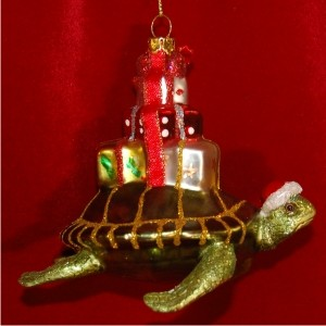 Holiday Sea Turtle Glass | Hand Personalized Christmas Ornaments ...