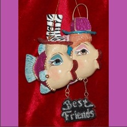 Best Friends Couture Queens Glass Personalized Christmas Ornaments