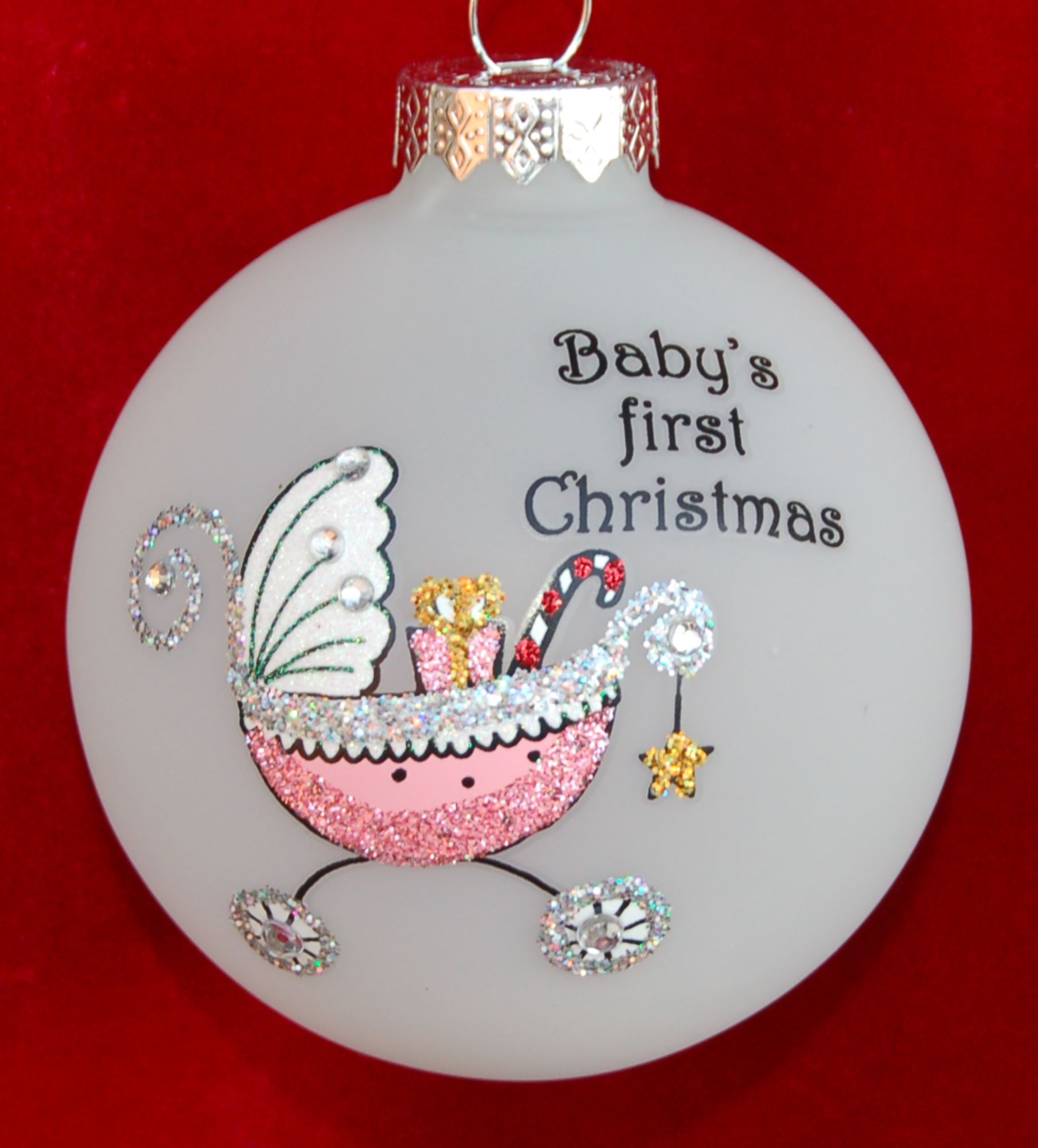 Baby's First Christmas Ornament Precious Girl Personalized by Russell Rhodes