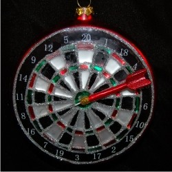 Championship Board Darts Glass Christmas Ornament