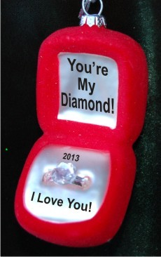 You're My Diamond! Love from Husband Glass Christmas Ornament Personalized