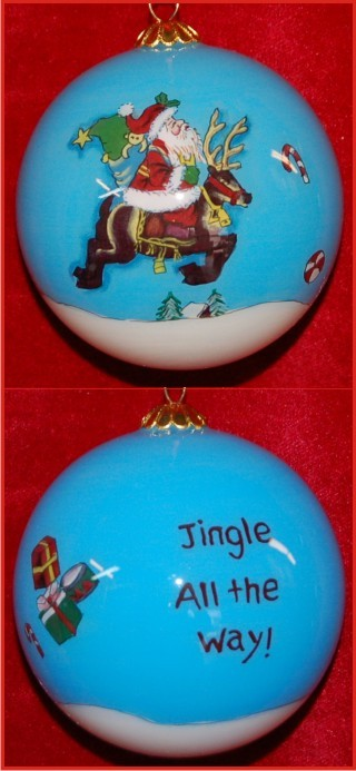 I Believe! Santa Christmas Ornament Personalized
