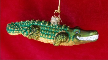 Alligator Christmas Ornament Personalized by Russell Rhodes