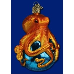 octopus blown glass christmas ornament - Blown Glass Christmas Ornaments