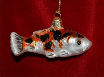 Assorted color koi hand personalized christmas ornaments for Koi fish ornament