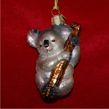 Koala Bear Glass Christmas Ornament Personalized by Russell Rhodes