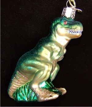 T-Rex Christmas Ornament Personalized by Russell Rhodes