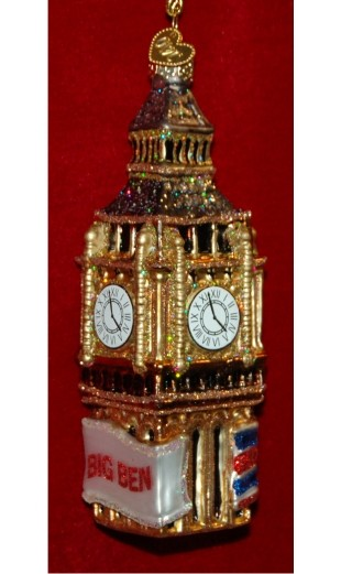 Big Ben Personalized Christmas Ornament