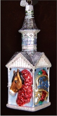Kentucky Derby Personalized Christmas Ornament