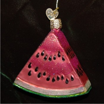 Watermelon Glass Christmas Ornament Personalized by Russell Rhodes