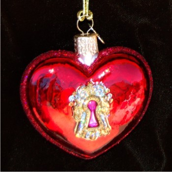 Key to My Heart Personalized Christmas Ornament