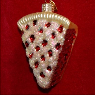 All-American Cherry Pie Christmas Ornament Personalized by Russell Rhodes