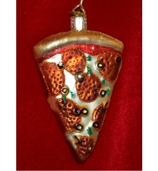 Pizza! Glass Personalized Christmas Ornament
