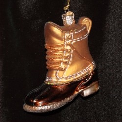 Field Boot Glass Christmas Ornament