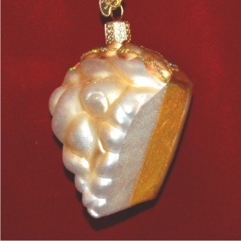 Lemon Meringue Pie Personalized Christmas Ornament